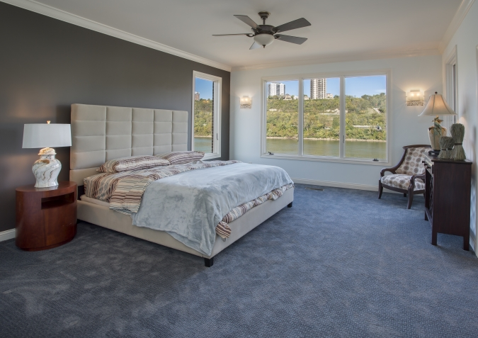 Master bedroom with views of the Ohio River
